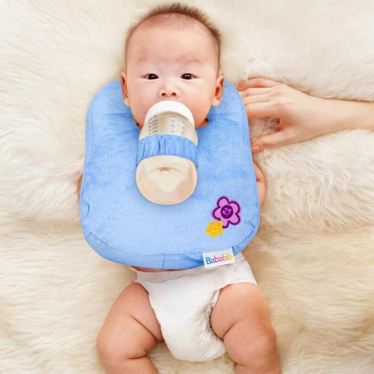 Lazy Parent Baby Bottle Holder Bib