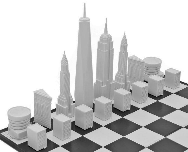New York City Skyline Chess Set - Architecture skyscraper buildings chess board