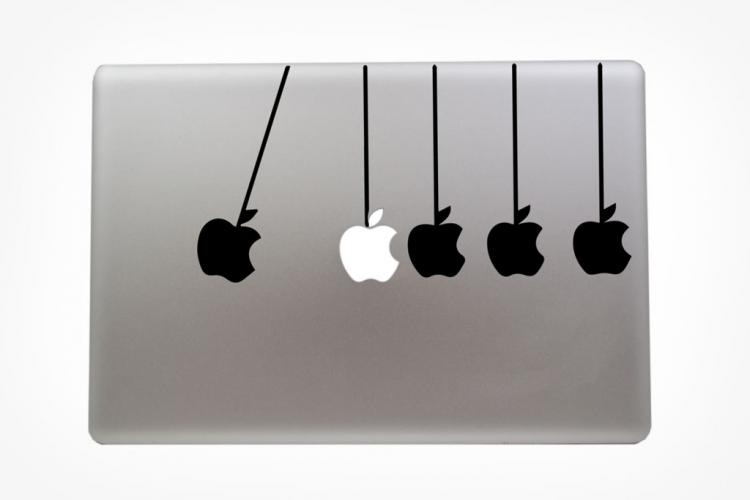 newtons cradle macbook sticker
