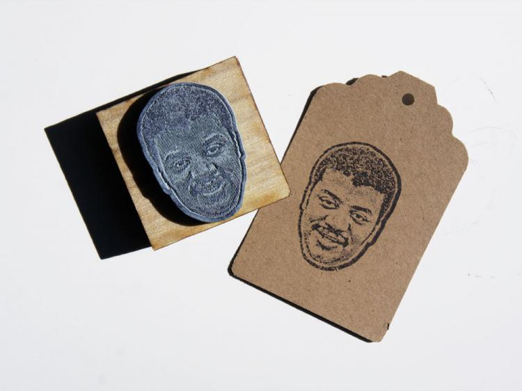 Neil DeGrasse Tyson Face Stamp