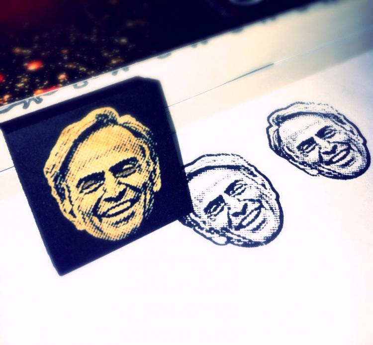 Carl Sagan Face Stamp