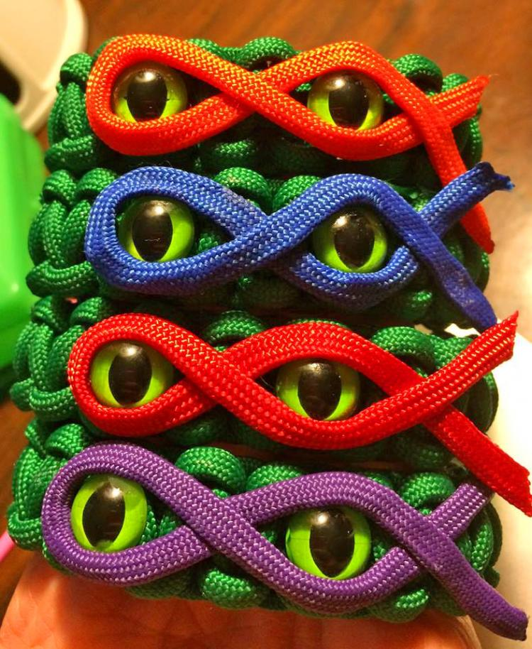 Ninja Turtle Paracord Bracelets - Teenage Mutant Ninja Turtle cat eyes bracelet