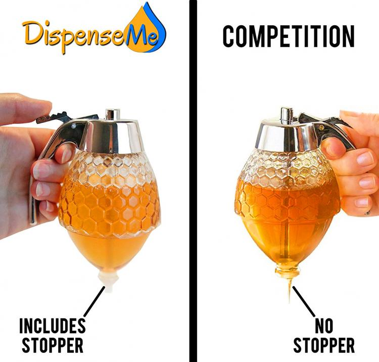 No Drip Syrup Dispenser - No Drip Honey Dispenser