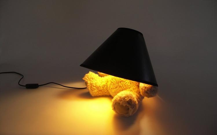 No Head Teddy Bear Lamp