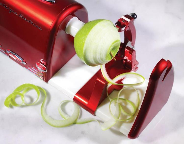 Nostalgia Electric Retro '50s fruit and vegetable peeler - Auto Peeler, Spiral Cutter, and Shredder Kitchen Appliance