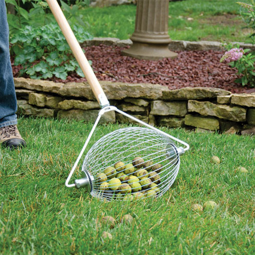 Nut Wizard Nut Collector Rolling Barrel - Sweet Gum Balls Collector