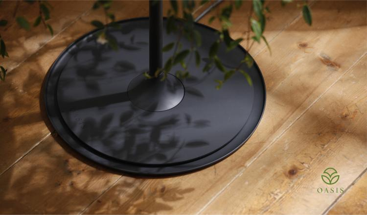 Oasis Table Displays A Hanging Plant Under A Glass Table-top - Hanging plant table - Nature table design