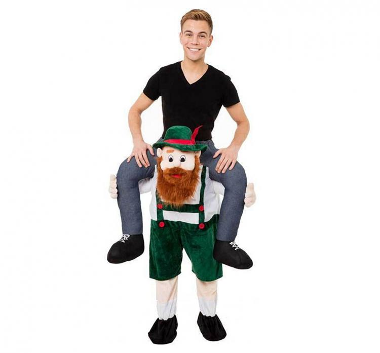 Oktoberfest Ride-on Piggyback Beer Man Costume - German Beer Man Carry-Me Costume
