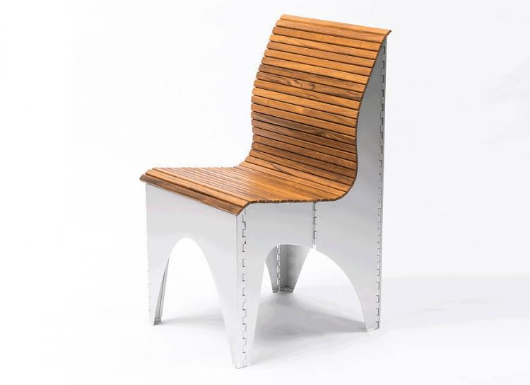 Ollie Shapeshifting Chair Goes Flat For Easy Storage - Designer chair - pull cord folding chair