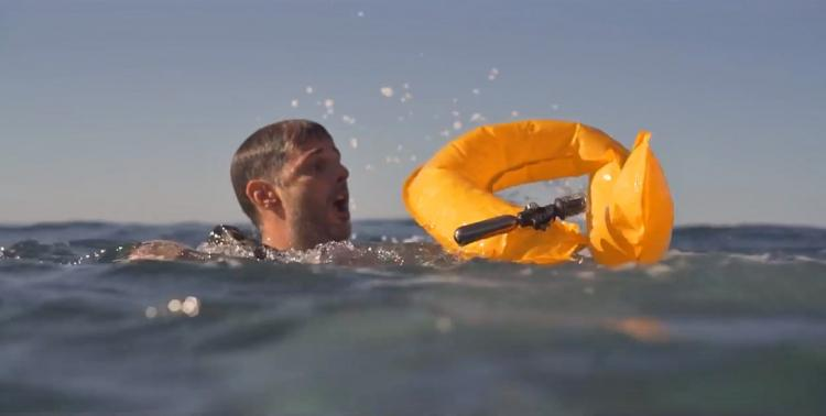 OneUp Throwable life-preserver flotation device - Instant inflating life-saving device