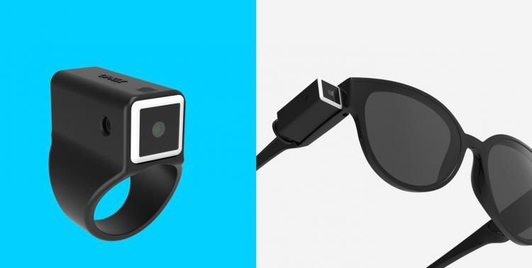 OPKIX ONE Tiny Wearable Action Camera Attaches Sunglasses - Tiny camera charging egg