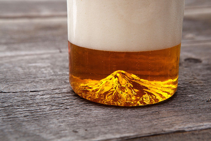 Oregon Pint Glass - Mt Hood - Mountain Beer Glass