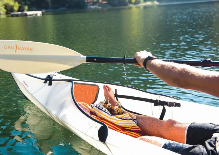 Oru Kayak Collapsible folding kayak that folds up into a suitcase