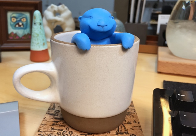 Cute tea otter infuser