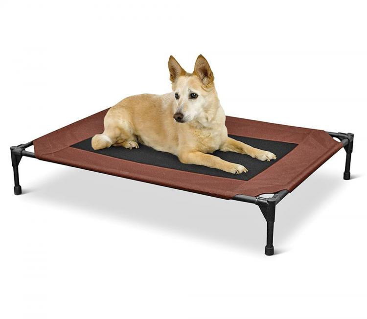 Outdoor Dog Lounger With Sun Canopy - Canopied outdoor dog bed