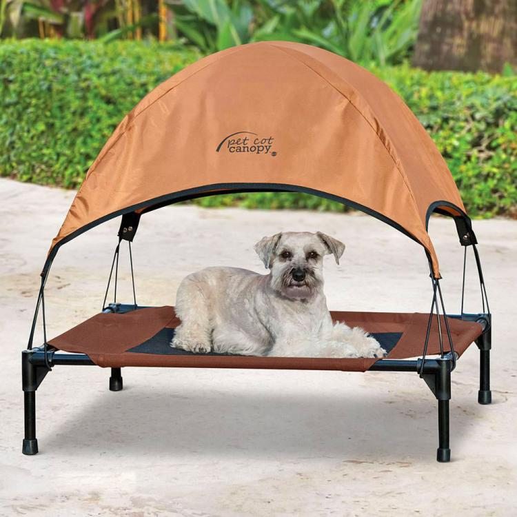 Outdoor Dog Lounger With Sun Canopy