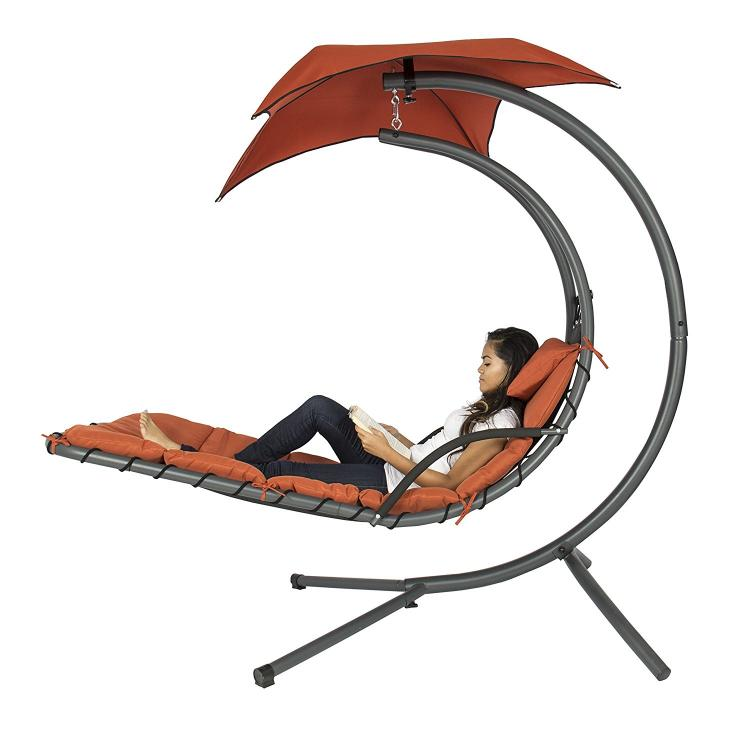 Outdoor Hanging Chase Lounger - Floating and swinging pool lounger