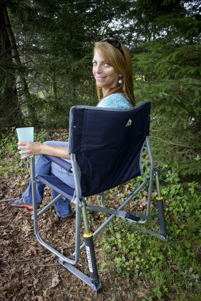 This Outdoor Folding Rocking Chair Lets You Rock On Any
