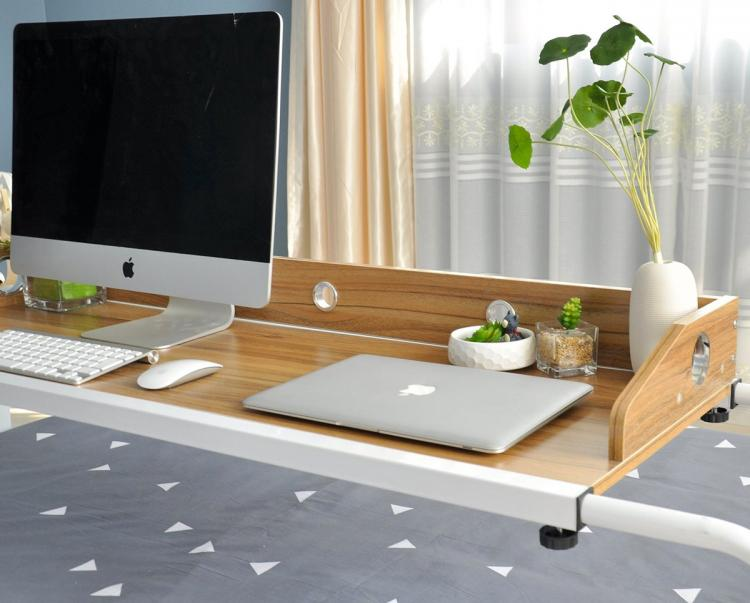 Unicoo Bed Table - Sliding Bed Desk - Rolling Bed Desk For Working and Eating In Bed