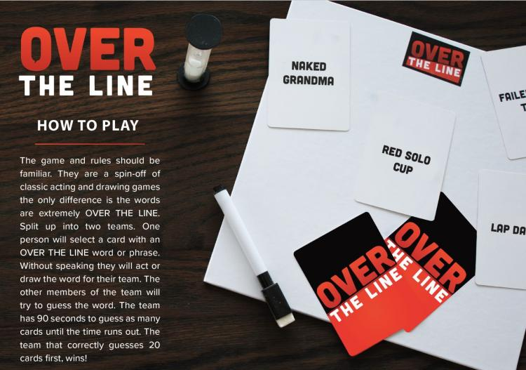 Over The Line - Adult Part Game - Similar to cards against humanity - dirty words pictionary / charades