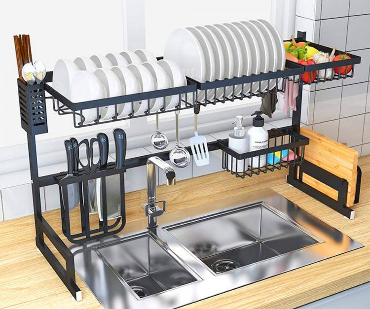 Over The Sink Dish Drying Rack - Finnish sink drying rack - Tiny home drying rack