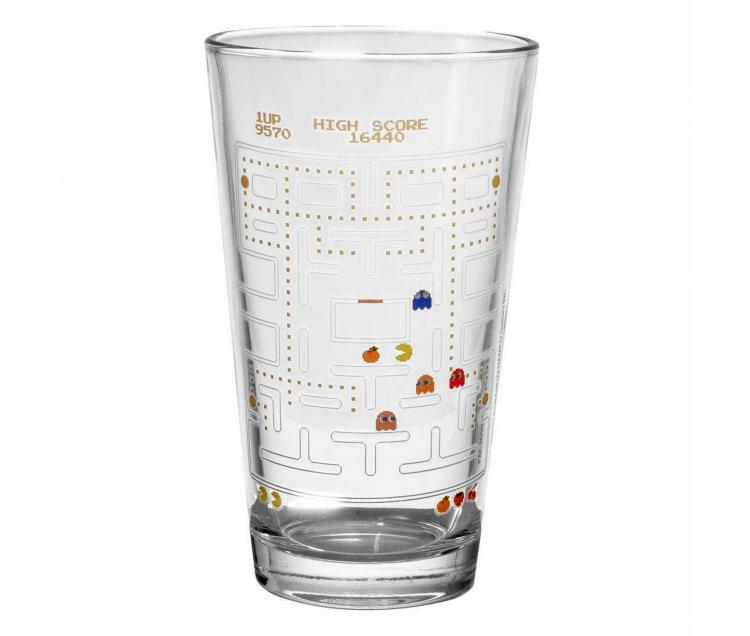 Pac-Man Drinking Glass Turns Colorized With Cold Liquid