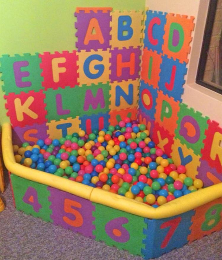 Interlocking Letter Play Mats Let You Build Your Own Ball Pit