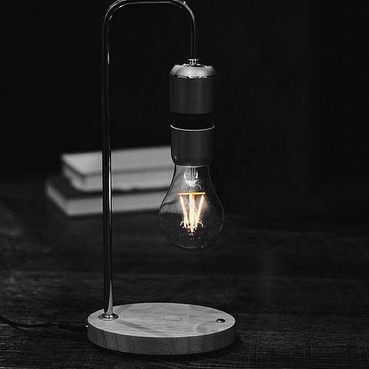 PAER Hanging Floating Light Bulb Lamp - Wireless dangling light bulb desk lamp