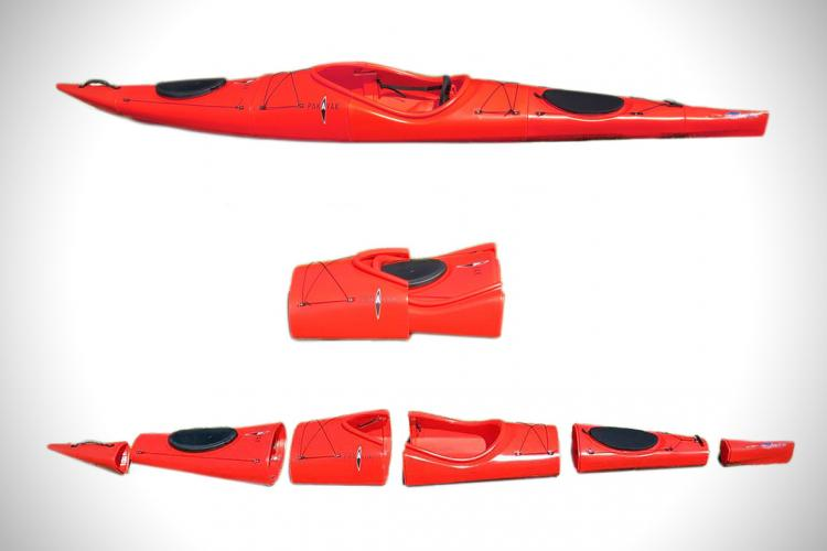Pakayak Portable Kayak - Kayak collapses down to haul around like a backpack