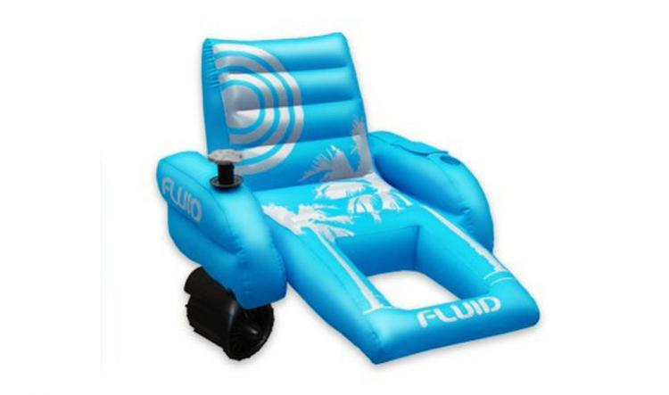 Palm Beach Motorized Pool Lounger - Inflatable pool chair with a motor and joystick