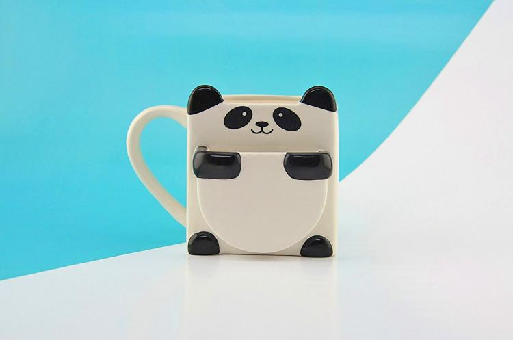 Panda Hug Coffee Mug - Panda Mug That Holds Cookies