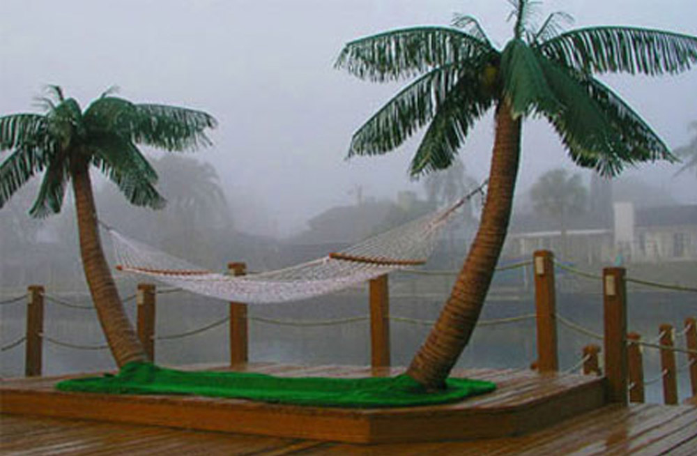 Palm Tree Hammock Stand With Misters Lets You Create Paradise In Your Backyard - Original Palm Island Hammock Stand