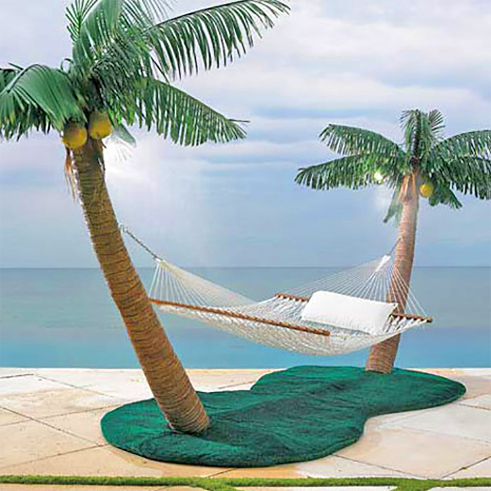 Palm Tree Hammock Stand With Misters Lets You Create Paradise In Your Backyard - Original Palm Island Hammock StandPalm Tree Hammock Stand With Misters Lets You Create Paradise In Your Backyard - Original Palm Island Hammock Stand