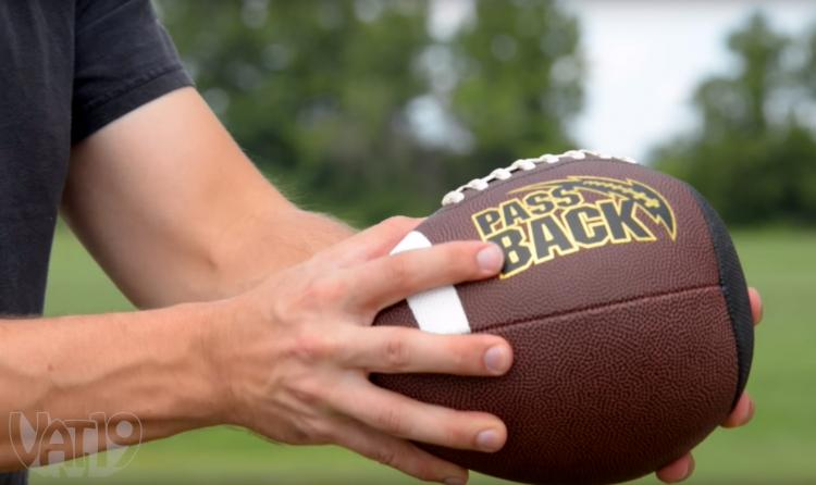 Passback Football - Play Catch With Yourself Using a Wall
