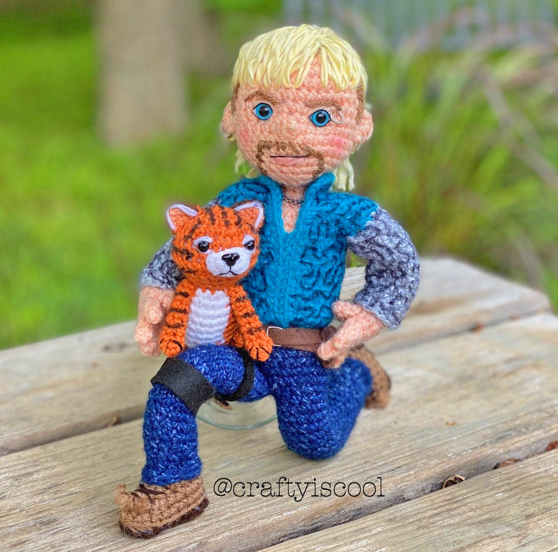 Joe Exotic Tiger King Crochet Pattern - Crochet Joe Exotic Big Cat Mullet Guy