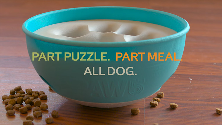 PAW5 Dog Bowl Rolling Puzzle - Slow Feed Dog Bowl