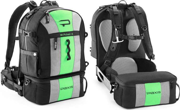 this backpack swings around to access essential items on