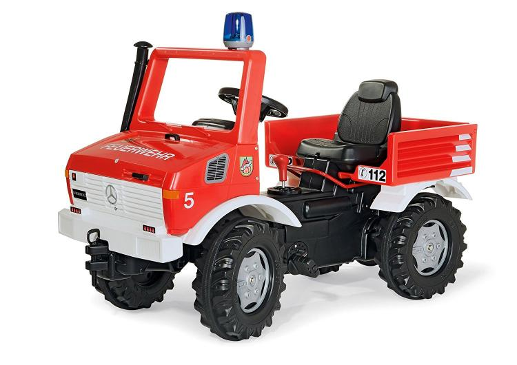 Rolly Toys Pedal Powered Snow Plow - Tractor Snow plow fire brigade truck