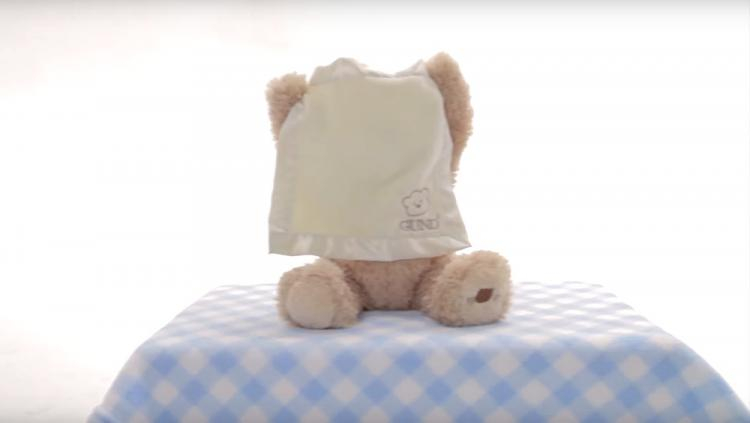 Gund Peek-a-Boo Teddy Bear - Automatic game playing teddy bear