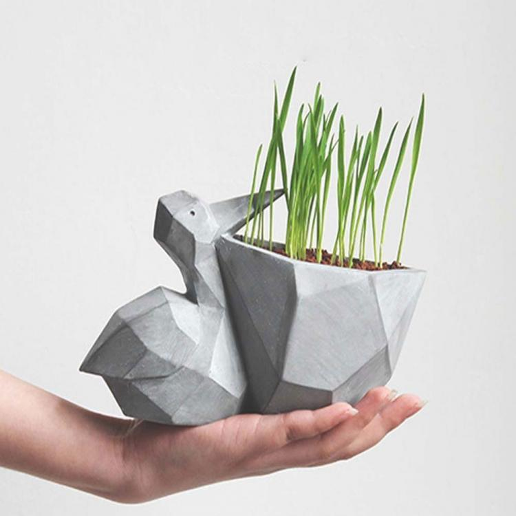 Geometric Pelican Flower Pot - Pelican mouth planter