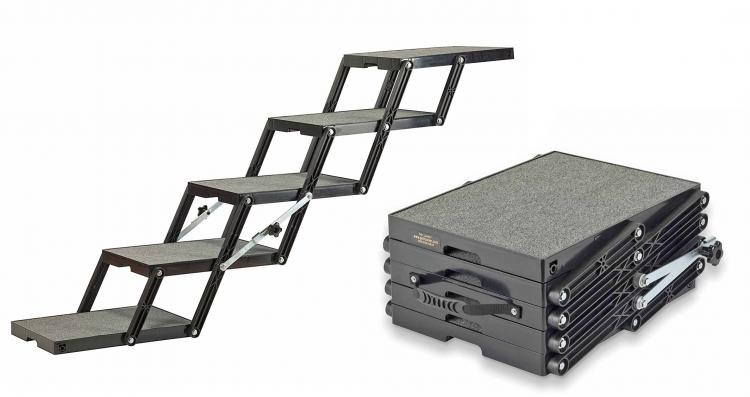 Folding Stairs For Dogs >> Pet Loader Folding Stairs Help Get Your Dog Into Your Car