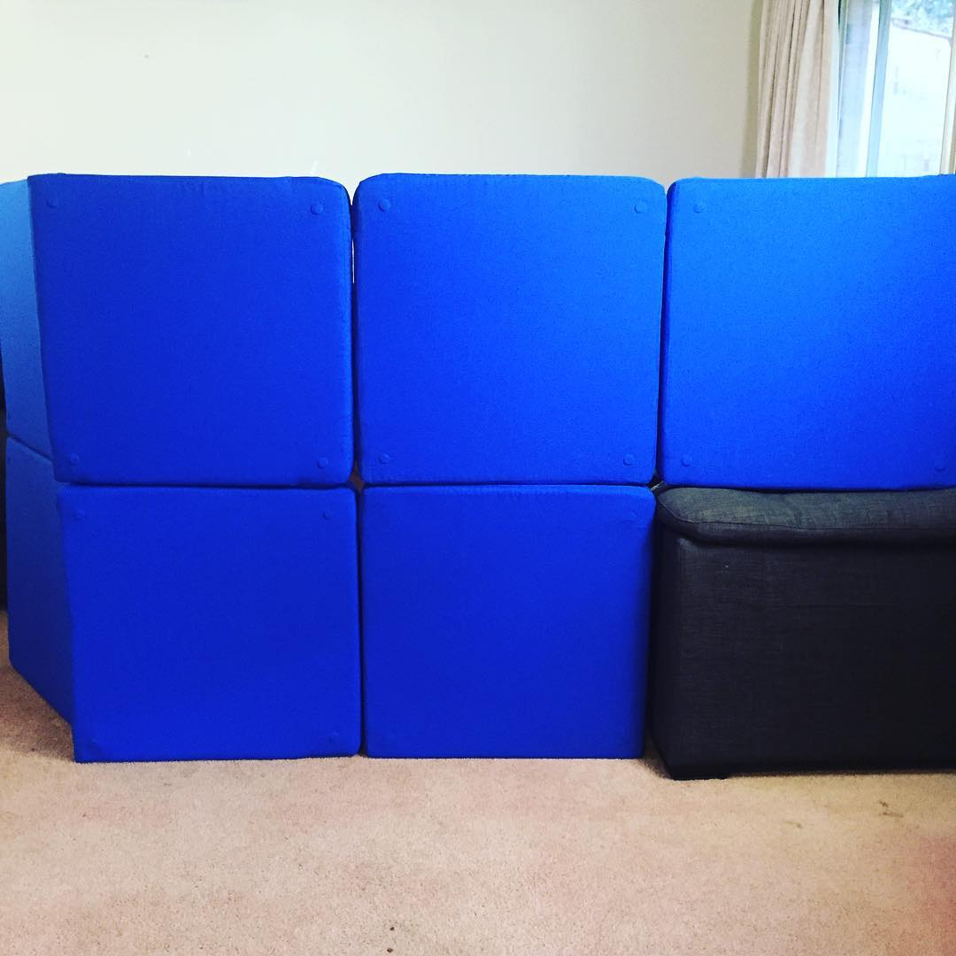 Magnetic Pillow Fort Cushions Pack Away Into an Ottoman When Not In Use - Squishy forts fort cushions