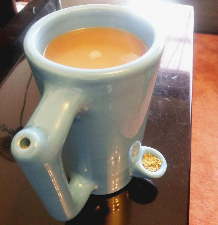 PipeMug Coffee Mug Smoking Pipe