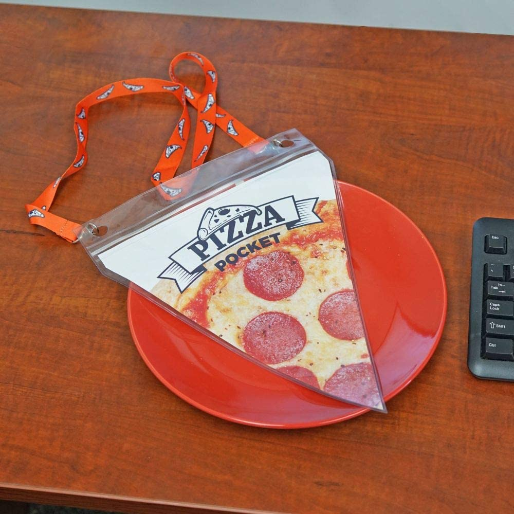 Pizza Pouch Lanyard - Pizza Pocket Carry an extra slice of pizza around your neck