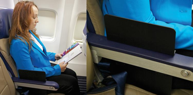 Create A Space Divides The Planes Armrest So Two Can Use It