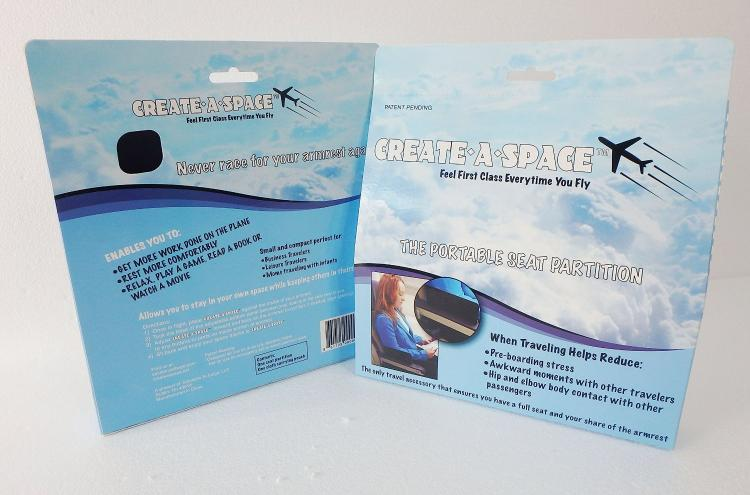 Create-a-Space portable airplane seat divider - Plane armrest divider