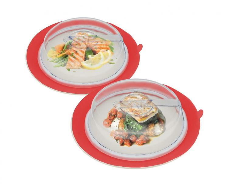 Plate Toppers - Leftover Plate Tupperware - Suction Leftover Keeper