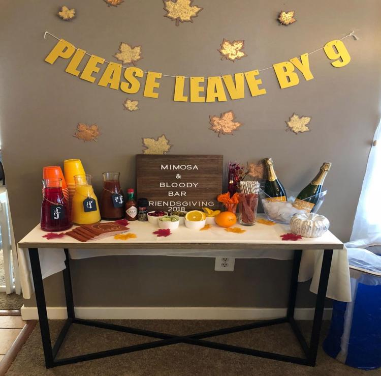 Please Leave By 9 Party Banner - Funny Party Banner - Joke Party Banner