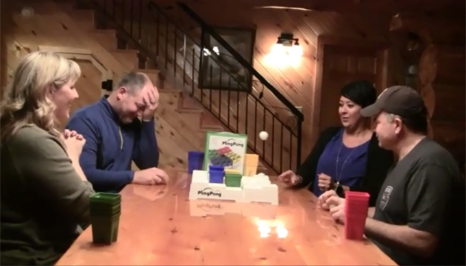 Pling Pong - Beer Pong Like Party Game For Whole Family - Ball and Cups Family Strategy Party Game - PlingPong