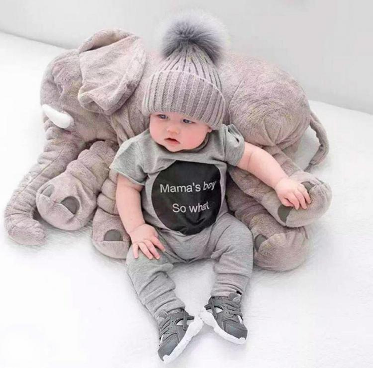 plush elephant for your baby to snuggle. Black Bedroom Furniture Sets. Home Design Ideas